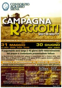 Campagna Raccolti 2016 - 2017