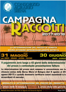 Campagna Raccolti 2017 - 2018