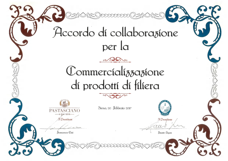 Accordo di collaborazione tra Consorzio Agrario di Siena e Pastasciano