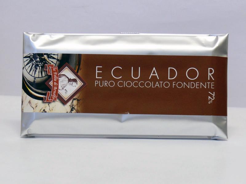 14854 - TAV. CIOCCOLATO ECUADOR 72% FOND. GR.100
