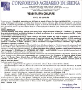Avviso vendita immobiliare Siena